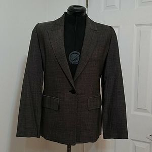 Linda Allard Ellen Tracy Wool One Button Blazer